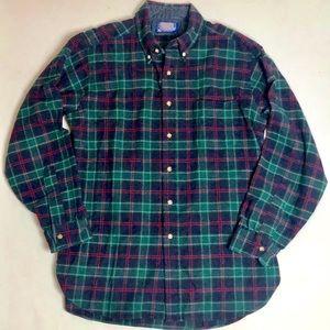 Men's Pendleton Wool Plaid Tartan Shirt USA Large